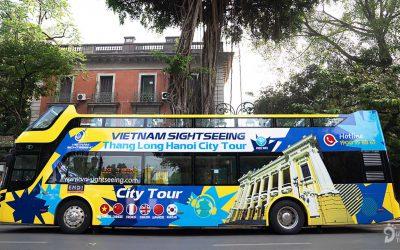 Chi tiết xe bus 2 tầng ở Hạ Long